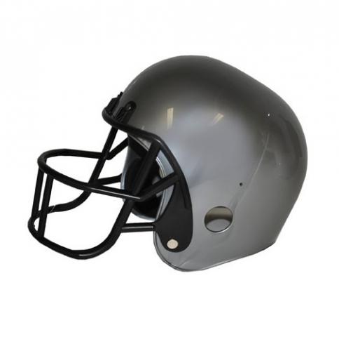 Grijze rugby helmen