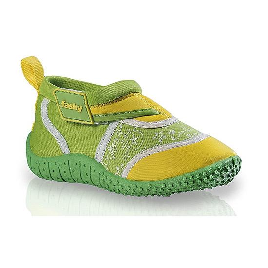 Image of Groen/gele kinder waterschoenen