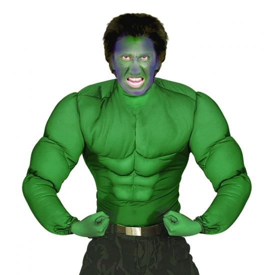 Image of Groen spierballen shirt voor heren