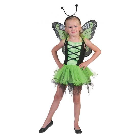 Image of Groen vlinder prinsessen jurkje