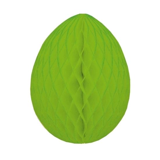 Image of Groene crepepapier paasei etalageversiering