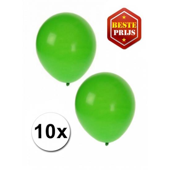 Image of Groene latex ballonnen 10 stuks