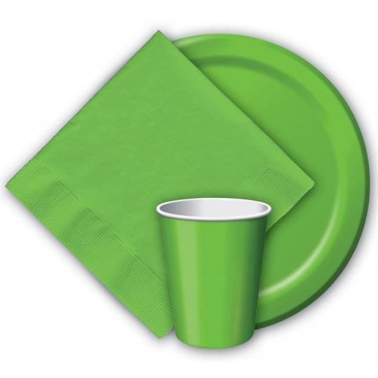 Image of Groene weggooi bekertjes 8 stuks