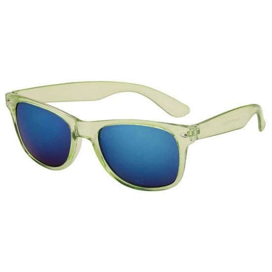 Image of Groene zonnebril met blauwe glazen