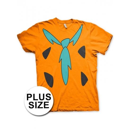 Image of Grote maat Katoenen Flintstones verkleedoutfit voor volwassenen