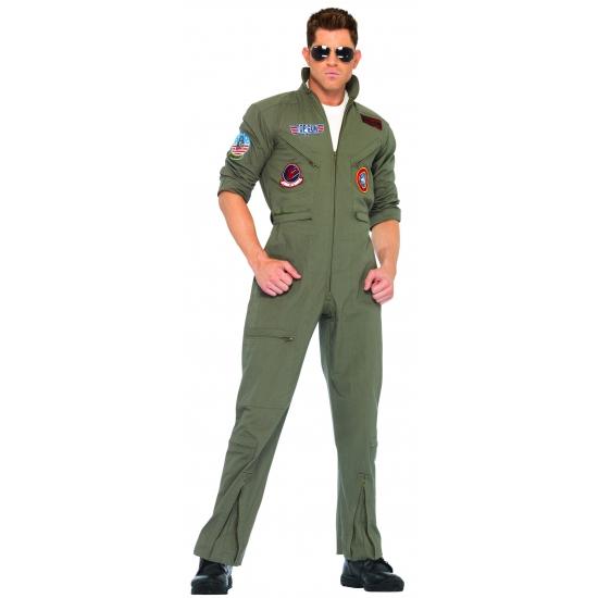 Image of Grote maat overall in de kleur legergroen