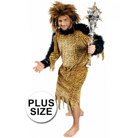 Image of Grote maten holbewoner kostuum