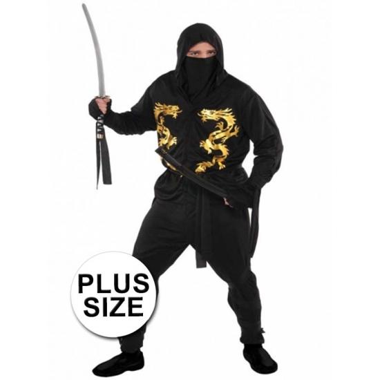 Image of Grote maten ninja kostuum voor heren