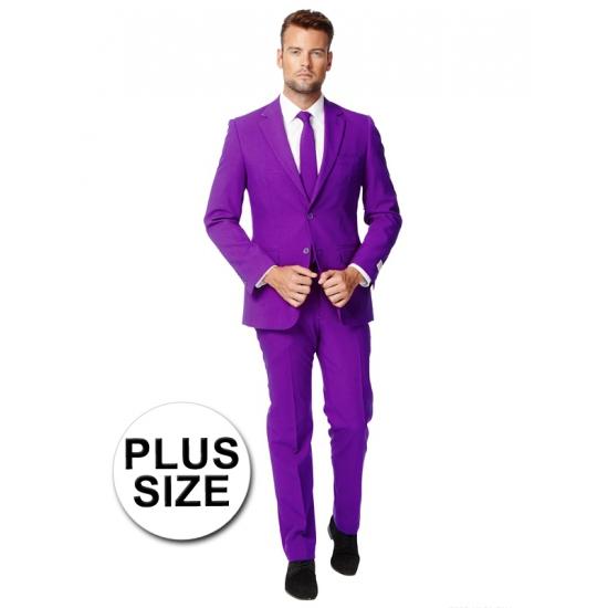 Luxe grote maten heren kostuum paars. luxe pak voor heren in het paars, met getailleerd colbert. het pak is ...