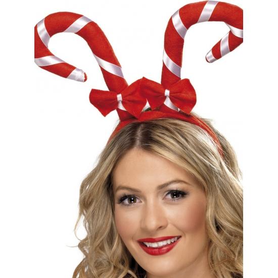 Image of Haarband met kerst zuurstokken