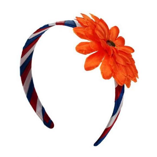 Haarband met oranje bloem
