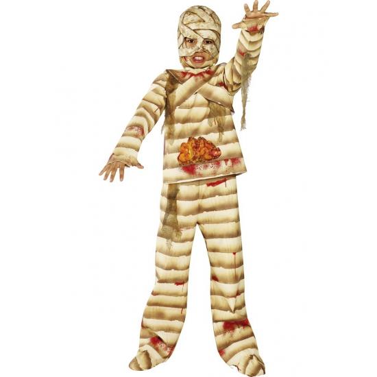 Bloederig mummie kostuum voor kinderen. griezelig mummie kostuum voor kinderen met bloederige wonden. het ...