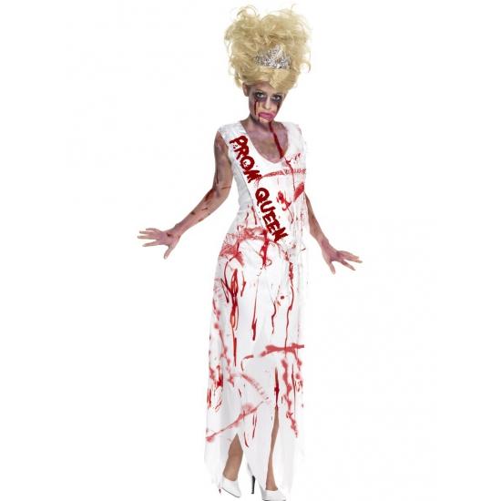 Prom queen zombie kostuum. zombie kostuum voor dames, in de vorm van een met bloed besmeurde prom queen jurk. ...