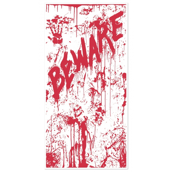 Image of Halloween deurposter met bloed