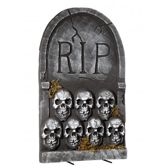 Halloween Grafsteen Rip Met Schedels 55 Cm Oranjeshopper kopen