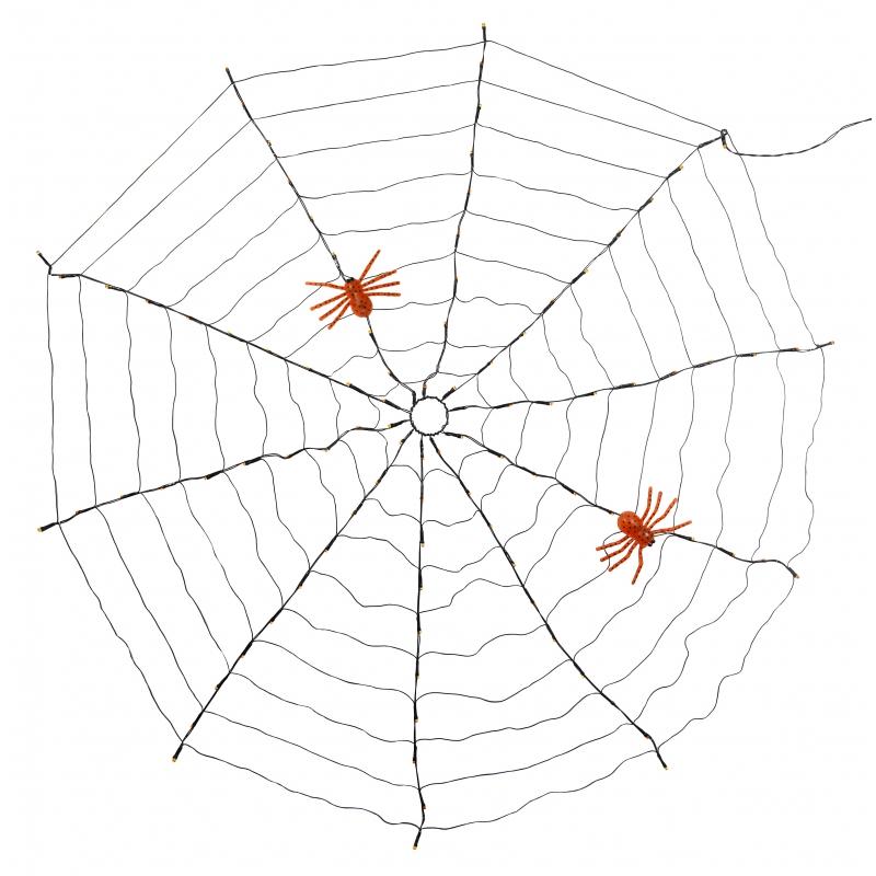 Image of Halloween led spinnen web 120 cm