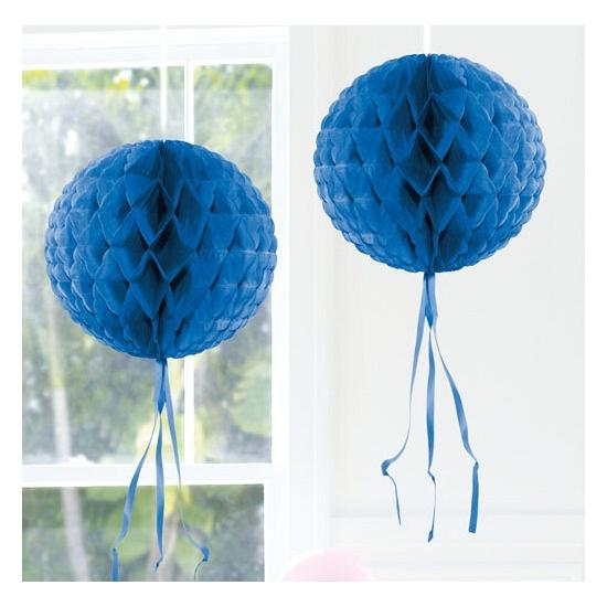 Image of Hangdecoratie blauwe bol 30 cm