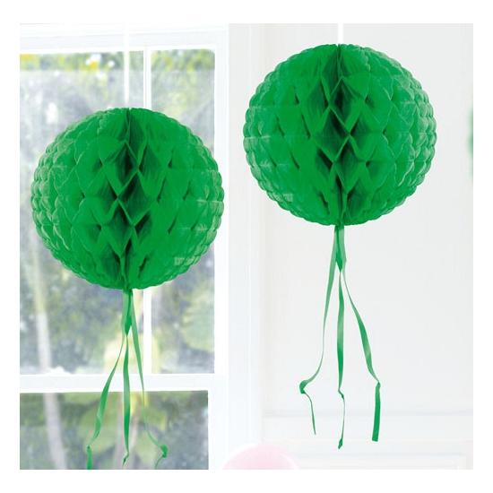 Image of Hangdecoratie donker groene bol 30 cm