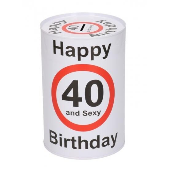 Image of Happy birthday 40 jaar spaarpot