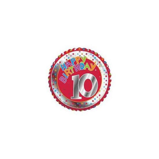 Image of Happy Birthday helium ballonnen 10 jaar