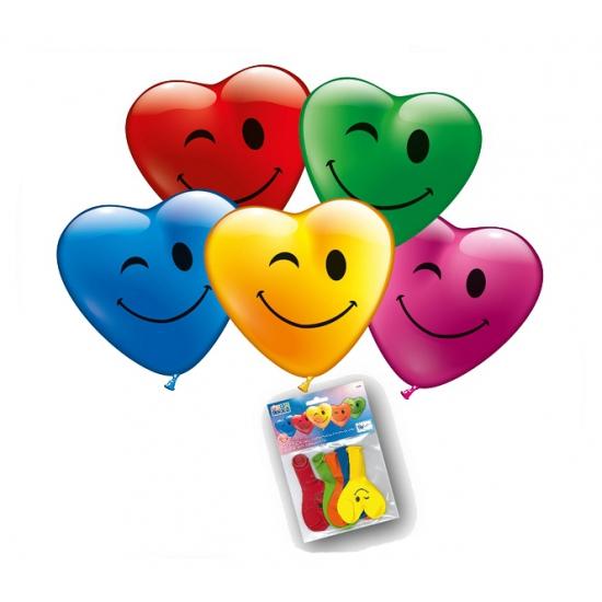 Image of Hartjes ballonnen met gezicht