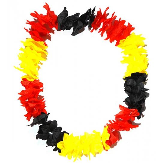 Image of Hawaii krans zwart/geel/rood