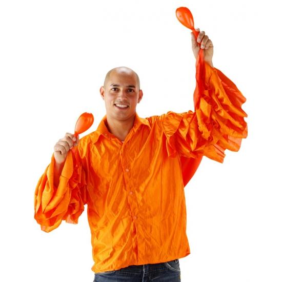 Heren rouche shirt in oranje