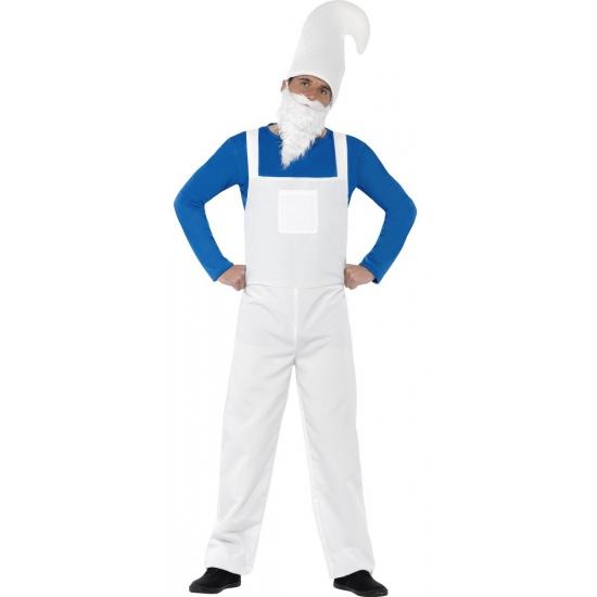 Image of Heren verkleed kostuum kabouter blauw