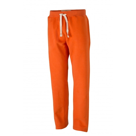 Image of Herenvrijetijdsbroeken oranje met steekzakken