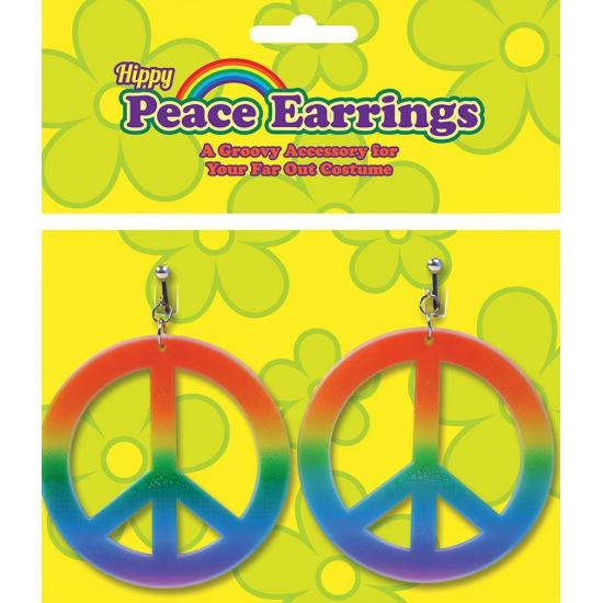 Image of Hippie sieraden peace oorbellen