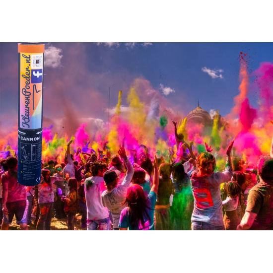Image of Holi color kleurpoeder kanon geel