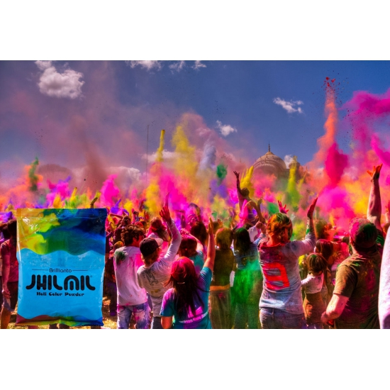 Image of Holi color kleurpoeder lichtblauw