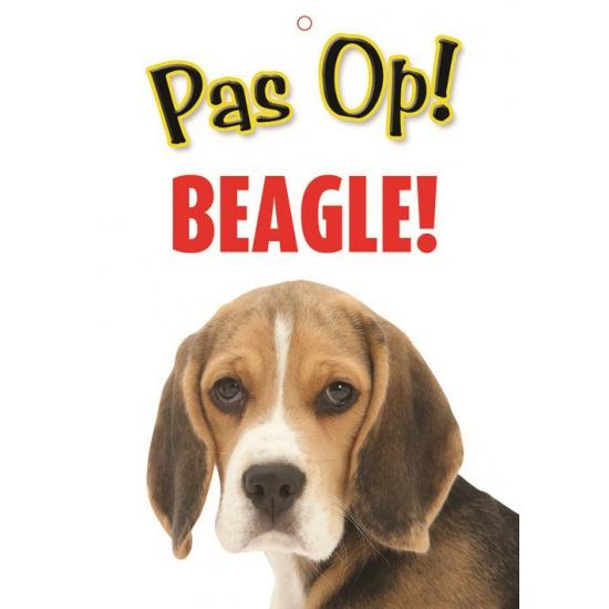 Image of Honden waakbord pas op Beagle 21 x 15 cm