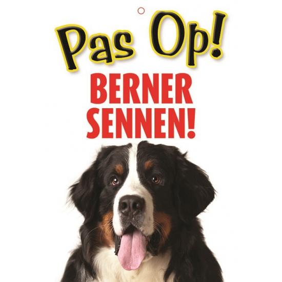 Image of Honden waakbord pas op Berner Sennen 21 x 15 cm