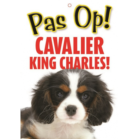 Image of Honden waakbord pas op Cavalier King Charles 21 x 15 cm