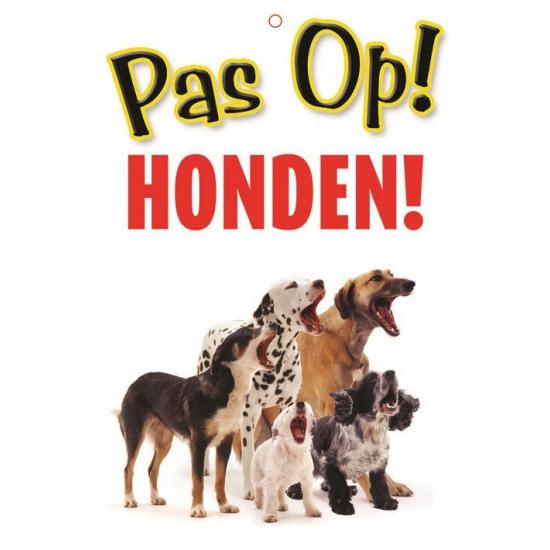 Image of Honden waakbord pas op Honden 21 x 15 cm