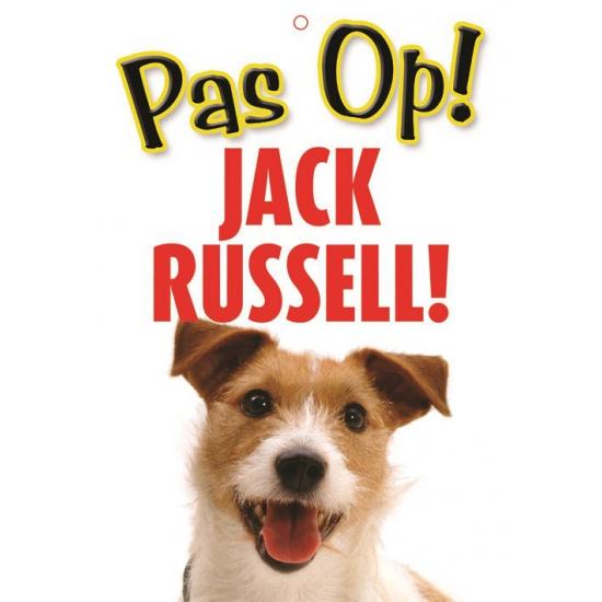 Image of Honden waakbord pas op Jack Russell 21 x 15 cm