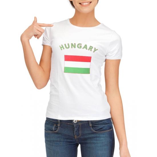 Hongarije t-shirt met Hongaarse vlag print voor dames