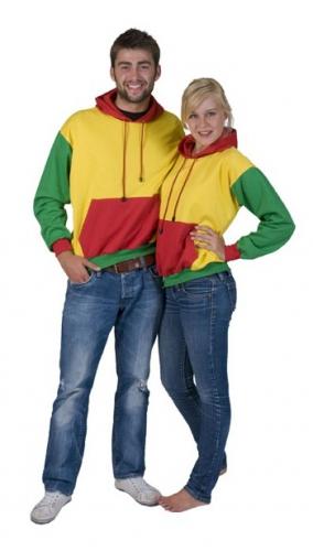 Image of Hoodie rood, geel en groen