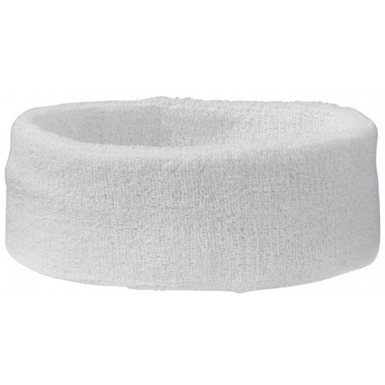 Image of Hoofd zweetbandje in witte kleur