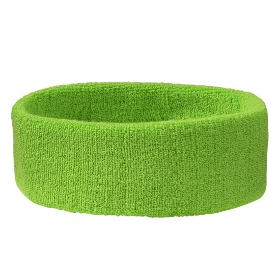 Hoofd zweetbandjes lime groen