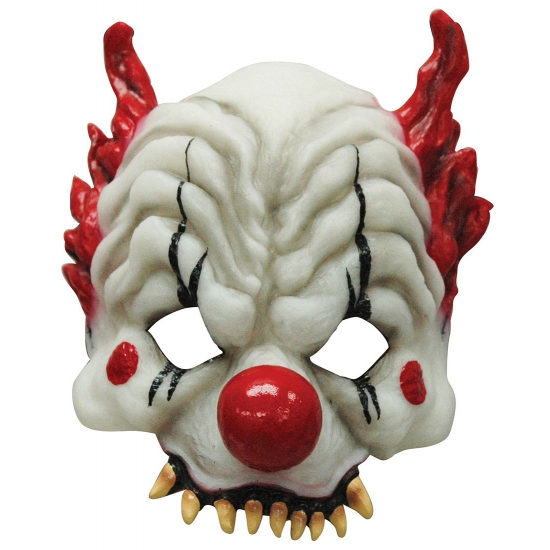 Image of Horror clown half masker
