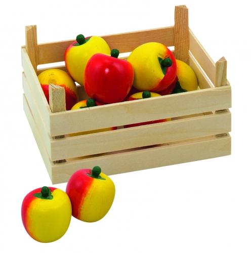 Image of Houten appels met kist