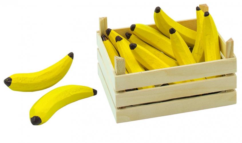 Image of Houten bananen met kist
