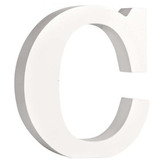 Image of Houten letter C 11 cm
