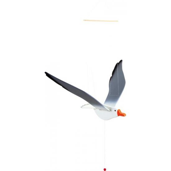 Image of Houten meeuw trekpop 74 cm