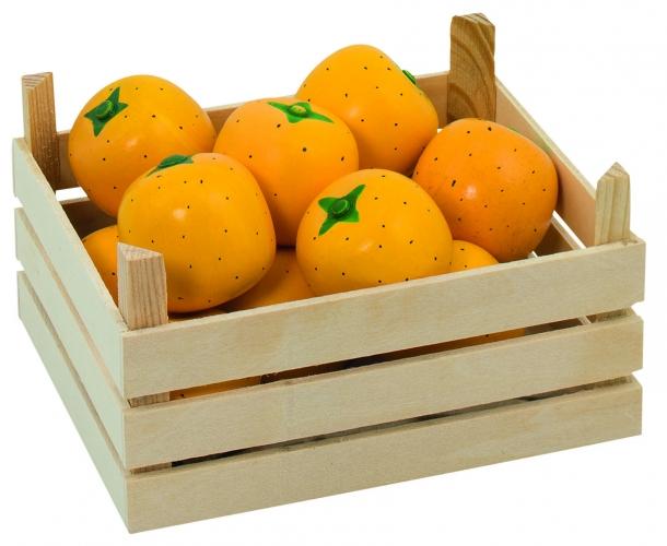 Image of Houten sinaasappels met kist