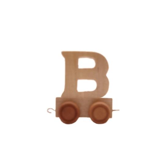 Image of Houten trein met de letter B