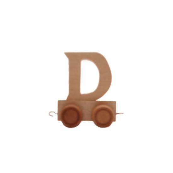Image of Houten trein met de letter D