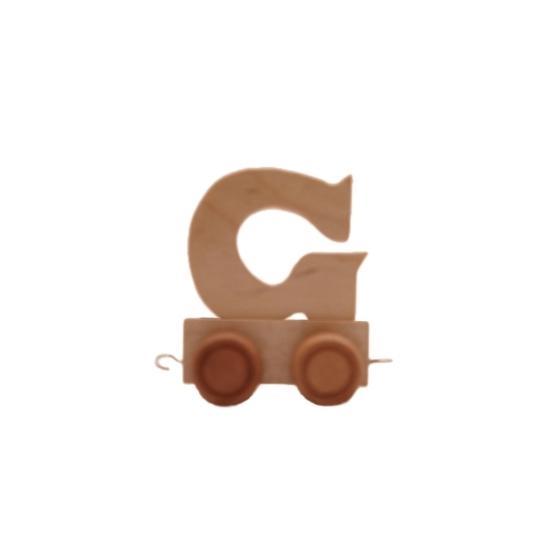 Image of Houten trein met de letter G